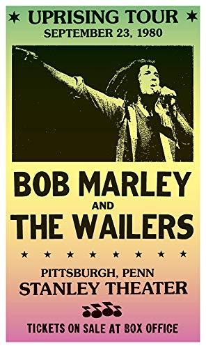 Per Diem Printing Uprising Tour - Bob Marley & The Wailers - Stanley Theatre Pittsburg - 13