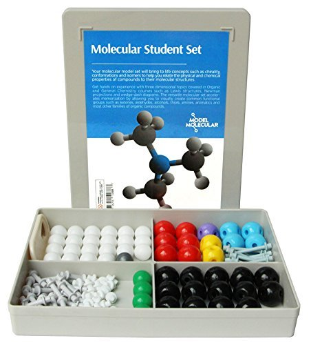 Lab Molecular Model (Duluth Labs Organic Chemistry Molecular Model Student Kit - (54 Atoms and 70 Bond Parts) - MM-003)