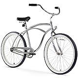 "Firmstrong Urban Man Alloy Single Speed Beach Cruiser Bicycle, 26"", Silver"