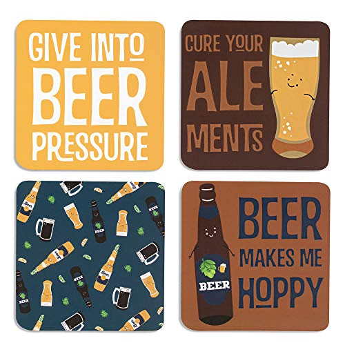 (Pavilion Gift Company 1 Beer Sentiment, Pattern and Character Holder-4 Inch 4