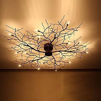 famlightsÄste Deckenlampe Deckenleuchte Außergewöhnlich braun
