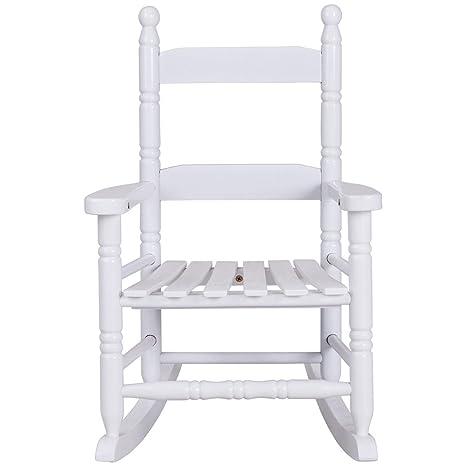 Amazon.com: Blanco clásico muebles de niños niños mecedora ...
