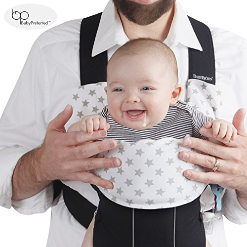 Ergo Teething Pad w/ Organic K'un Filled Bamboo Fibers + Cotton - Drool Pads for Babybjörn & Ergobaby ADAPT Carriers by Baby Preferred
