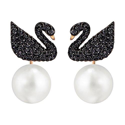 Swarovski+Iconic+Swan+Earrings+-+5193949