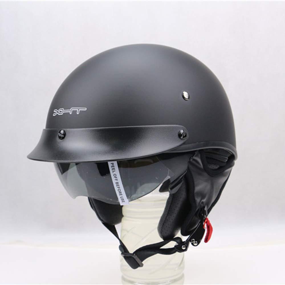 Prinz Motorrad-Sicherheitshelm M/änner und Frauen Vier Jahreszeiten Universal Harley Helm Mit Okularen MJW Vintage Harley Motorradhelm