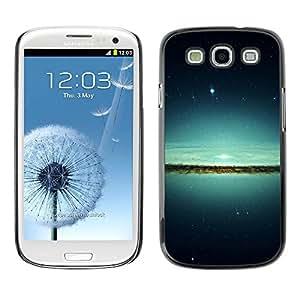 Paccase / SLIM PC / Aliminium Casa Carcasa Funda Case Cover para - Lake & Stars - Samsung Galaxy S3 I9300