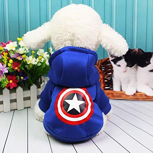 Cowmole Co. Cartoon Dog Clothes for Small Dogs Winter French Bulldog Jacket Dog Halloween Costume Chihuahua Puppy Hoodies Pet Clothes ()