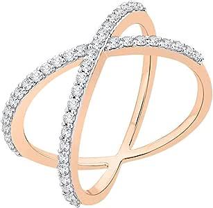 3 Diamond Promise Ring in 14K White Gold G-H,I2-I3 1//20 cttw, Size-4