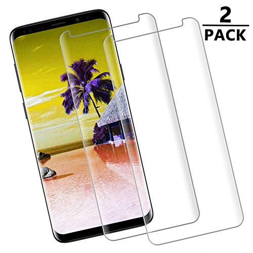 [2 - Pack] S9 Plus Screen Protector,[9H Hardness][Anti-Fingerprint][Ultra-Clear][Bubble Free] Tempered Glass Screen Protector Compatible with Samsung Galaxy S9 Plus