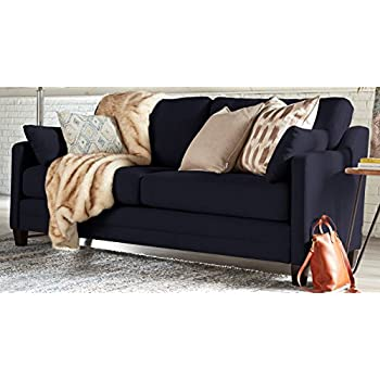 Serta Carmina Sofa, Chenille Fabric, Navy