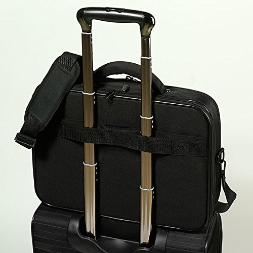 Vivanco NB BAG 15.6 WIDE Advanced Widescreen Notebook Tasche (39,6 cm (15,6 Zoll), Schloss, Trolleyband, Organizerfunktion) schwarz