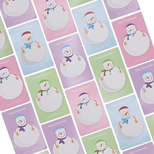 (Dasanito3089 Memo Pad Korean Stationery Snowman Memo Pad Paper Sticky Notes Stickers Decoration School Supplies)