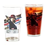 CafePress - Agent Carter Stripes - Pint Glass, 16 oz. Drinking Glass