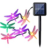 Kyпить Icicle Dragonfly Solar String Lights, 16ft 20 LED 8 Modes Waterproof Fairy Lighting for Indoor/Outdoor, Garden, Patio, Wedding, Party and Holiday Decorations (Multi Color) на Amazon.com