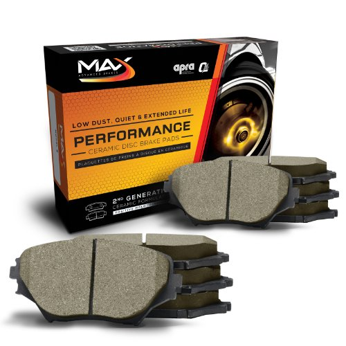 Max KT064953 [Front + Rear Axle Set] Performance Ceramic Disc Brake Pads