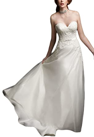 Sunny Girl Sunnygirl Sweetheart Lace Appliques Long Wedding Gowns