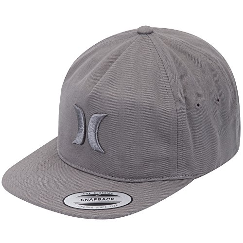 Hurley Men's The Classic Hat, Black, One Size (One Size, Cool Grey) (Embroidered Hat Hurley)