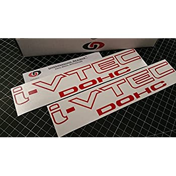 I vtec dohc 12 pair x2 vinyl decal sticker import tuner gloss red