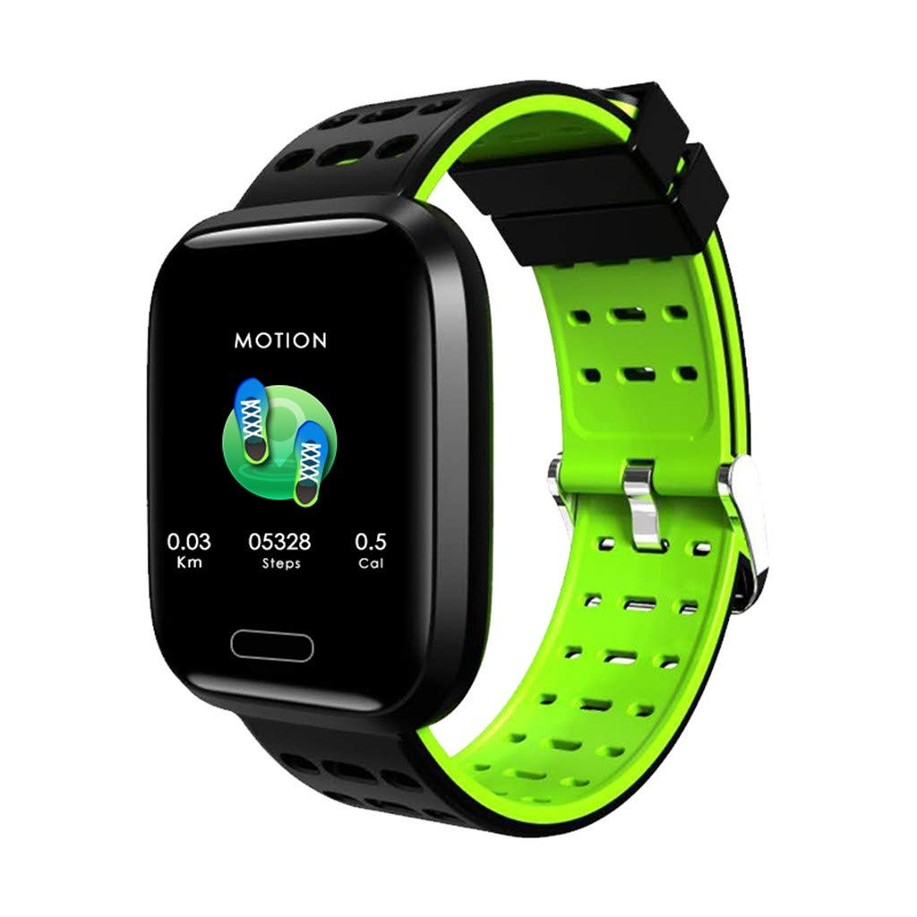 Smart Watches for Men Waterproof, 1.3inch Full Color Screen Blood Pressure Heart Rate Monitor Smart Watch Bracelet for Father Men Student Youth Teens Boyfriend Lover's Birthday Anniversary Gift