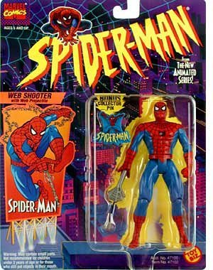 Marvel Comics Spider-man From Animated Series with Shooter by Toy Biz
