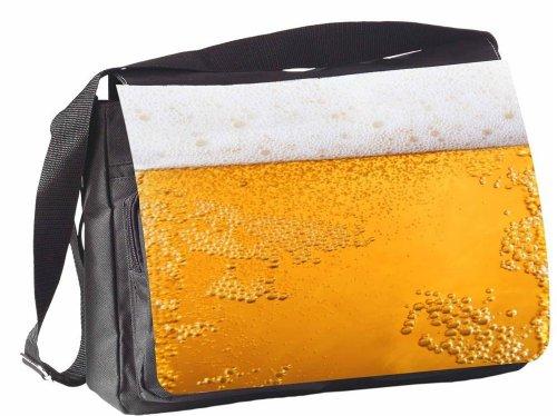 Klebespatz / Motiv Schultertasche Mailand Bier