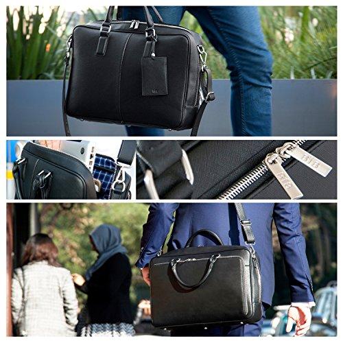 BFB Laptop Messenger Bag - Designer Business Computer Bag or Briefcase for Men - Ideal Commuter Bag for Work and Travel - Black by My Best Friend is a Bag (Image #5)
