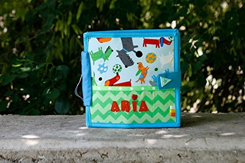 Personalized Quiet Book by TomToy, Busy book, Fabric Felt Soft book, Fine motor skills training, Travel toy, 20x20cm, Custom 4-12 pages ()