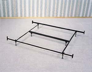 eastern king size bed frame rail w glides for headboard footboard kitchen dining. Black Bedroom Furniture Sets. Home Design Ideas