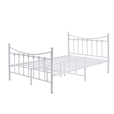 Stupendous Furniture Uk Shop 4Ft Metal Bed Frame White 4Ft Onthecornerstone Fun Painted Chair Ideas Images Onthecornerstoneorg