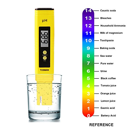 Tosman Digital pH Meter Pocket Size Water Quality Tester ATC pH Indicator Auto Calibration Accurate Reliable Quick Response within Seconds for Kitchen Drinking Water, Swimming Pool, Fish globe by TOSMAN (Image #3)
