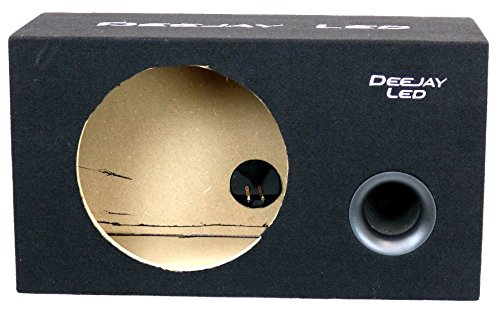 DEEJAYLED 1X12VENTEDSQUARE Single 12'' Vented Square Box