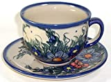 Product review for Polish Pottery Cup and Saucer - Wild Field