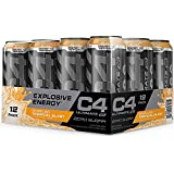 Cellucor C4 Original Carbonated Zero Sugar Energy Drink, Pre Workout Drink + Beta Alanine, Sparkling Tropical Punch, 16 Ounce Can
