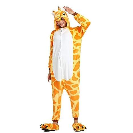 FuweiEncore Animal Cosplay Kigurumi Jirafa Pijamas Espesar ...