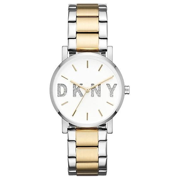 DKNY Reloj Analógico para Mujer de Cuarzo con Correa en Acero Inoxidable NY2653: Amazon.es: Relojes
