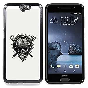 Cool Badass Military Skull & Helmet Caja protectora de pl??stico duro Dise?¡Àado King Case For HTC ONE A9