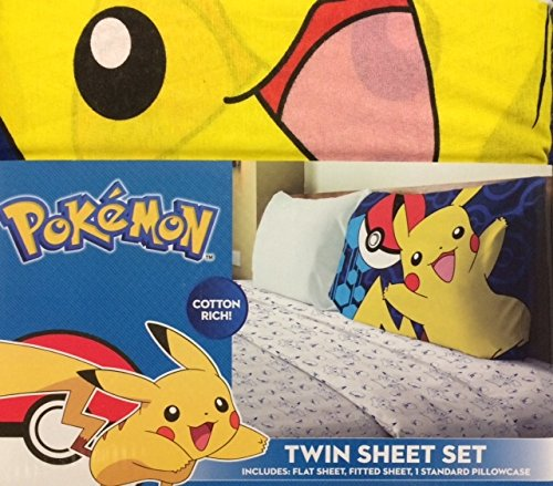 Pokemon 3 Piece Twin Sheet Set