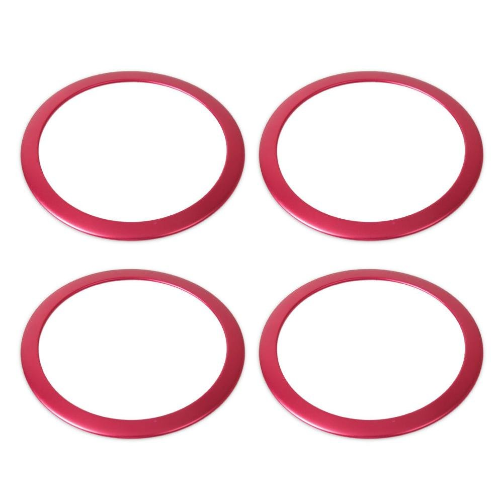 UltaPlay Interior Door Sound Speaker Cover Trim Ring Car Styling sticker Accessory For BMW 3 Series 316i 320i 328i 335i F30 F35 2012-2015 [Red]