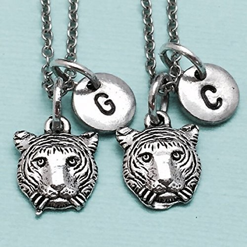 bff necklace Best friend necklace friendship jewelry sister initial animal necklace personalized manatee necklace monogram