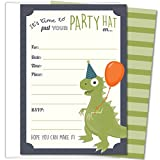 Koko Paper Co Dinosaur Party Invitations, Fill-In Style T-Rex Design...