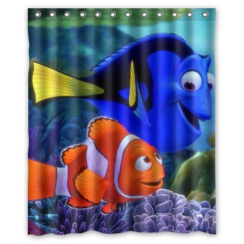 Finding Nemo Dory Custom Waterproof Shower Curtain 60x72 Inch Bath