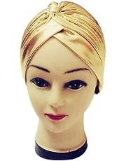 squarex Sombrero de poliéster Plisado y elástico para bañarse en Turbante, Tennis, Mujer,