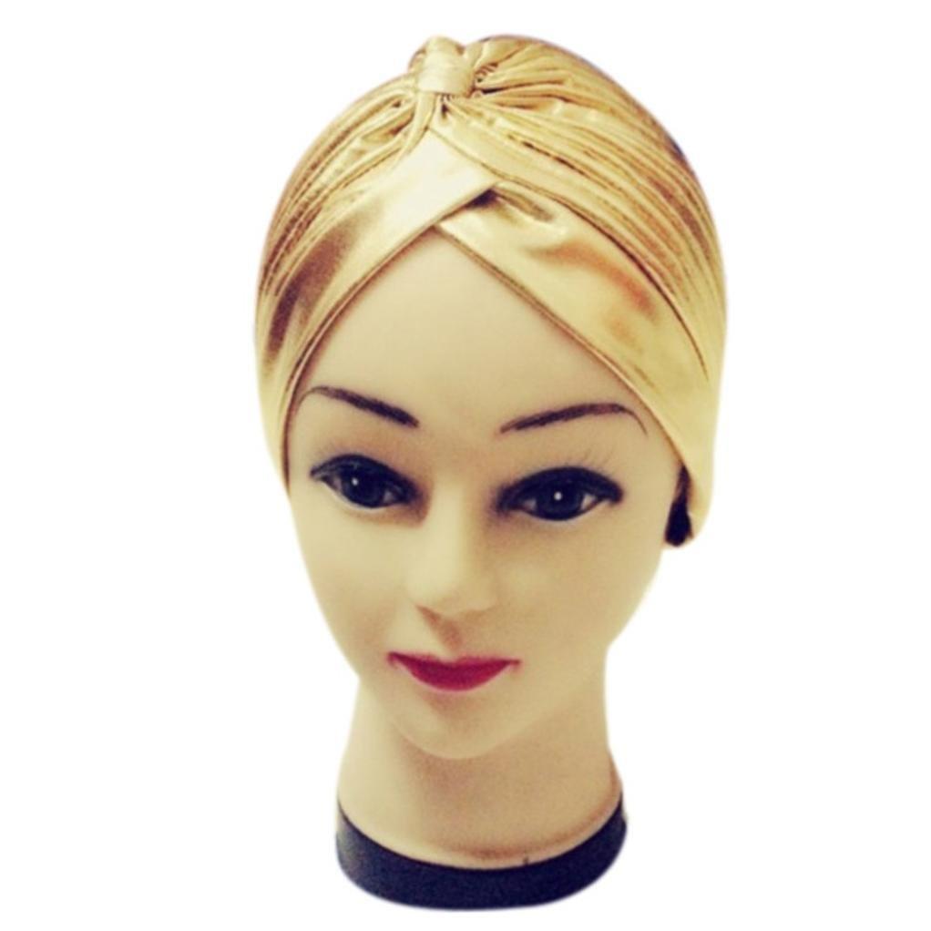 tama/ño Medium mujer squarex Sombrero de poli/éster plisado y el/ástico para ba/ñarse en turbante color negro Tennis