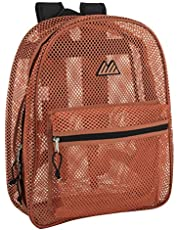 Mesh Backpacks for Kids, Adults, School, Beach, and Travel, Colorful Transparent Mesh Backpacks with Padded Straps