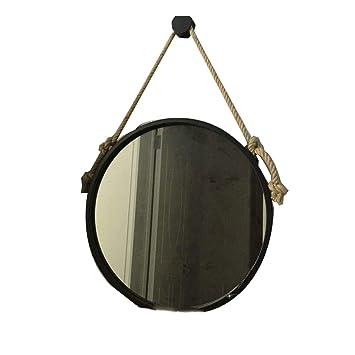 Amazon.com: Espejo de maquillaje europeo de hierro forjado ...
