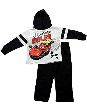 Cars Little Boys' Toddler 2 Piece Fleece Set '' No Rules''