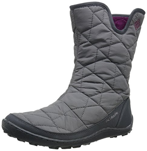 Columbia Women's Minx Slip Ii Omni-heat Snow Boot, Shale, Dark Raspberry, 8.5 B US (2 Zipper Calf Sneaker Boot)