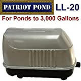 Patriot Air Pump LL-20, .8 Cubic Feet Per Minute, Pond Depth To 12 Feet