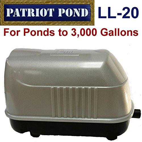 Patriot Air Pump LL-20, .8 Cubic Feet Per Minute, Pond Depth To 12 Feet by Patriot