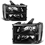 09 gmc headlights - AUTOSAVER88 For 07 08 09 10 11 12 13 14 GMC Sierra 1500/2500HD/3500HD Headlight Assembly,OE Projector Headlamp,Black housing,One-Year Limited Warranty(Driver and Passenger Side)